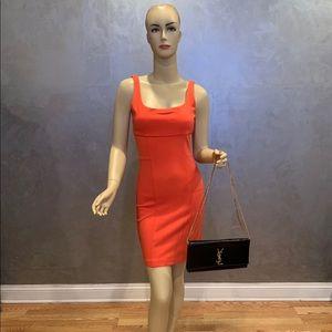 Peach Diane Von Furstenberg flirty mini dress.